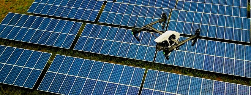 Drone Infrared Solar Panel Inspections Aerial Building